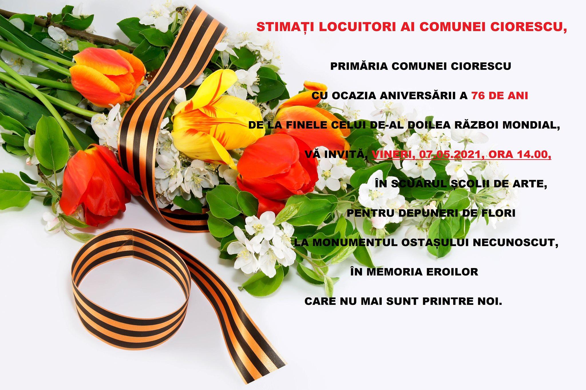 Primăria Comunei Ciorescu vă invită