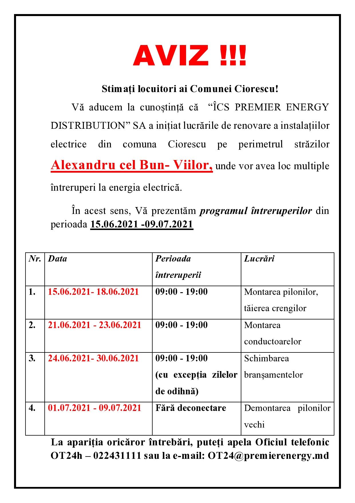 Inițierea lucrărilor de renovare a instalațiilor electrice din comuna Ciorescu